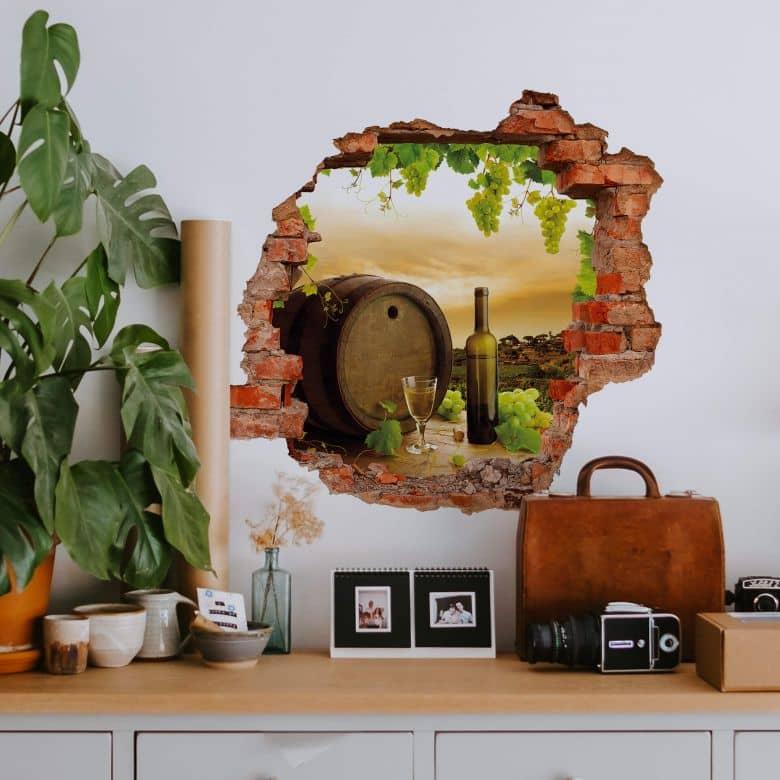 3D wall sticker vineyard