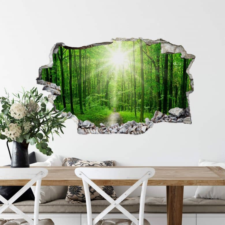 3D wall sticker Sunny Forest
