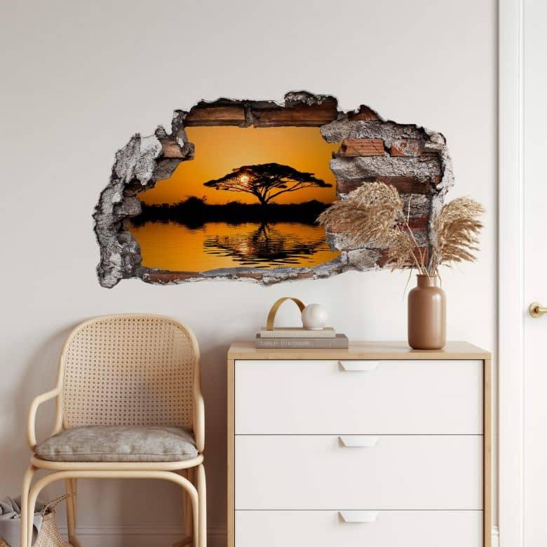 3D wall sticker Africa