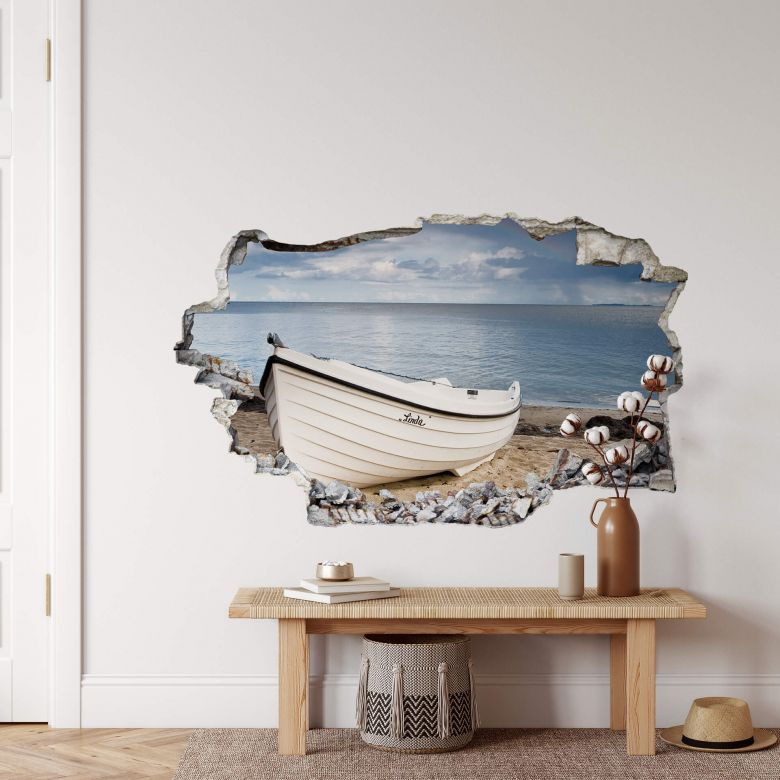 3D wall sticker day at the beach
