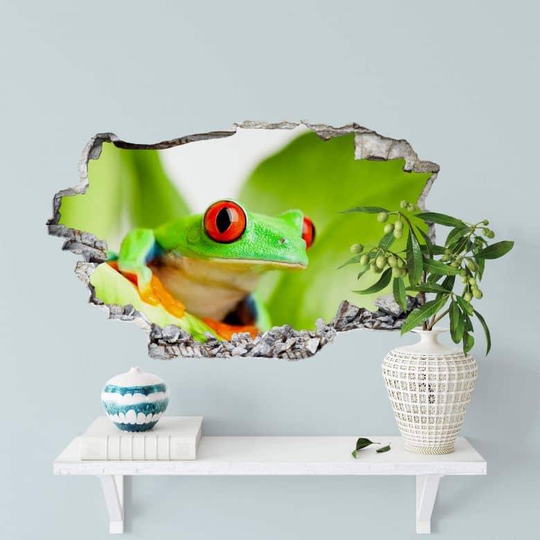 3D wall sticker Green Frog