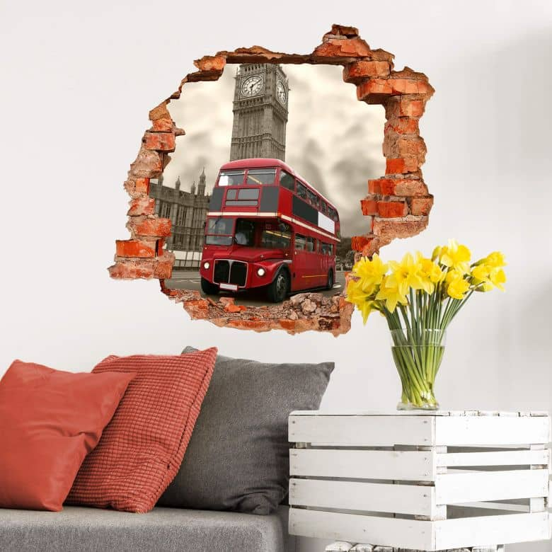 3D wall sticker London
