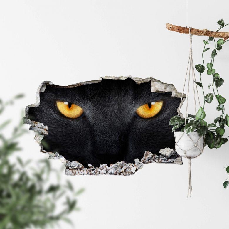 3D wall sticker Cat's eyes