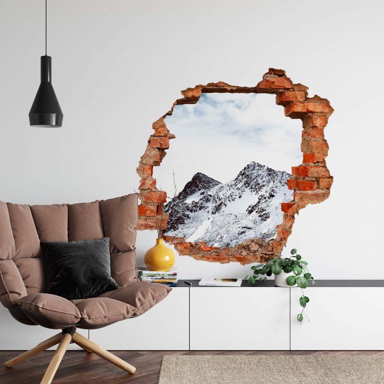 3D Wandtattoo Snow Mountain