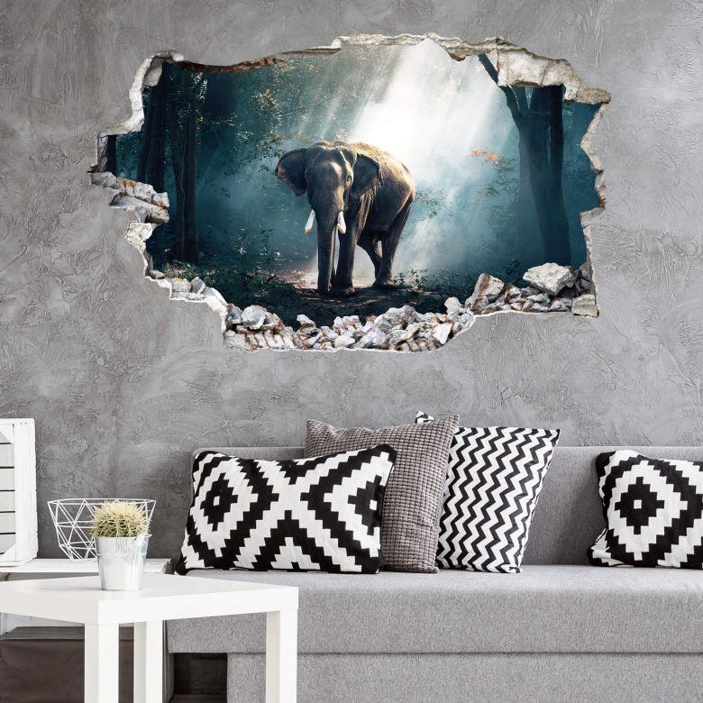 3D wall sticker Elephant