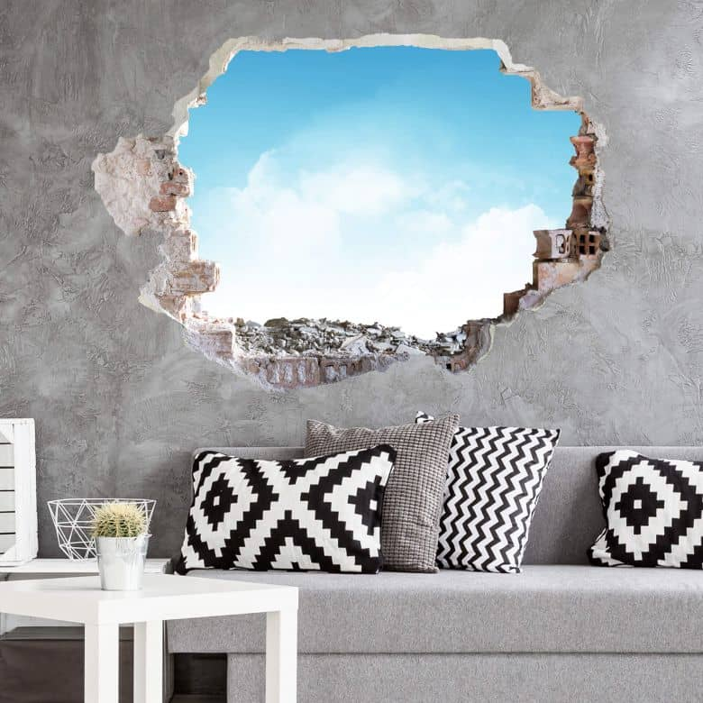 3D wall sticker Sunny Day