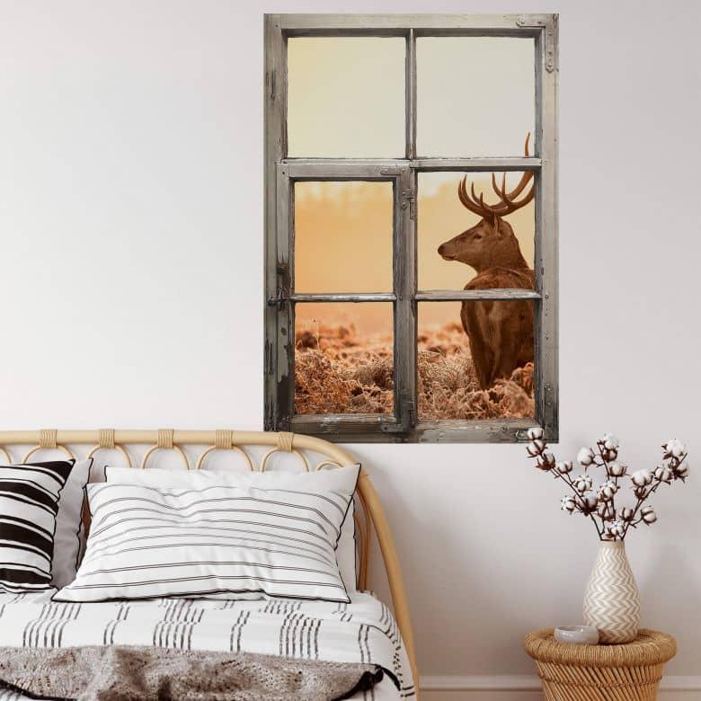 Trompe L'oeil Wall sticker Majestic Deer