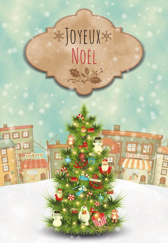 Gutschein Weihnachtsbaum Joyeux Noël