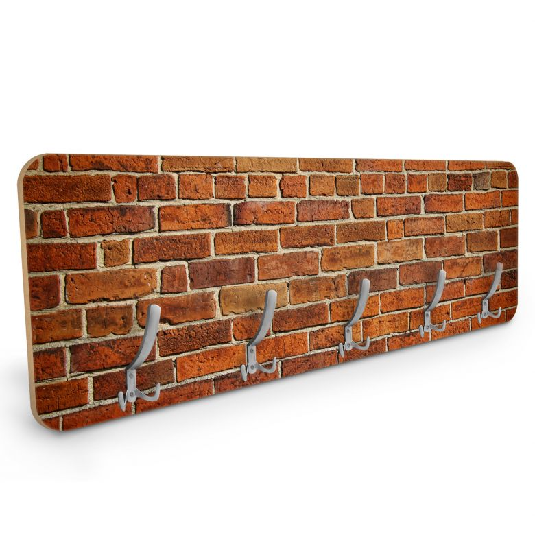 Garderobe Ziegelsteinmauer - Horizontal