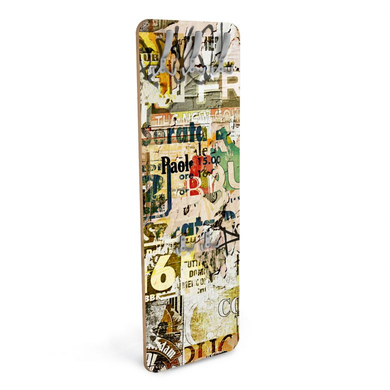 Design Garderobe Abgerissene Poster - Vertikal