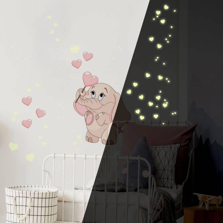 Baby Elephant Pink + Glow in the Dark