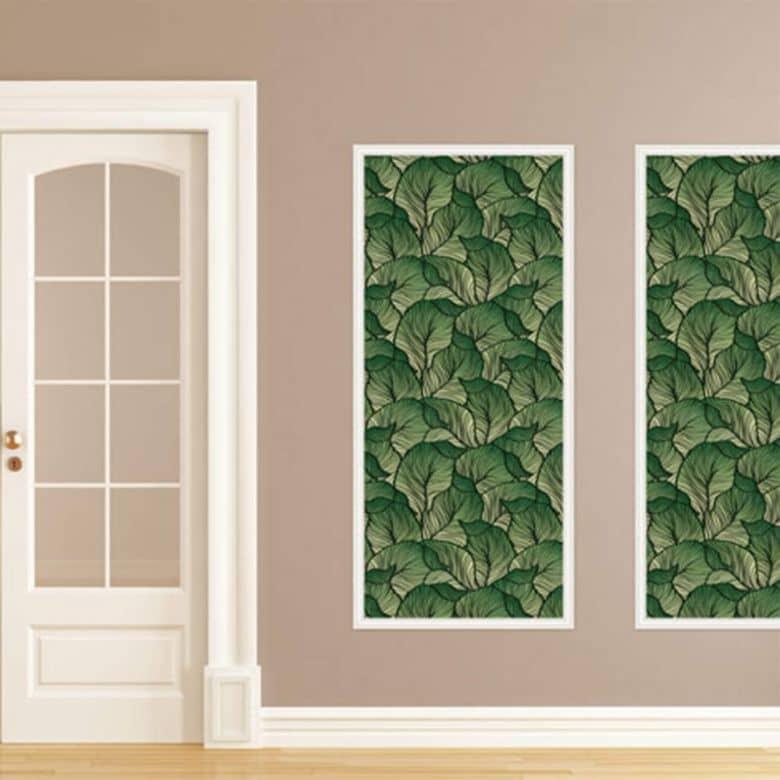 Wandsticker Tropical Jungle mit Zierleisten-Rahmen   wall-art.de