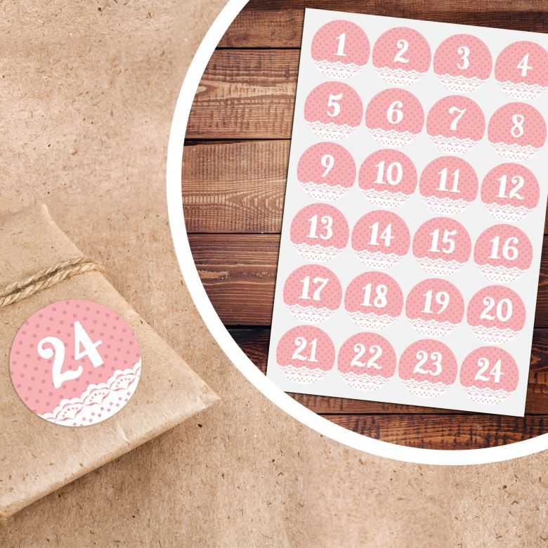 Sticker Adventskalender Shabby