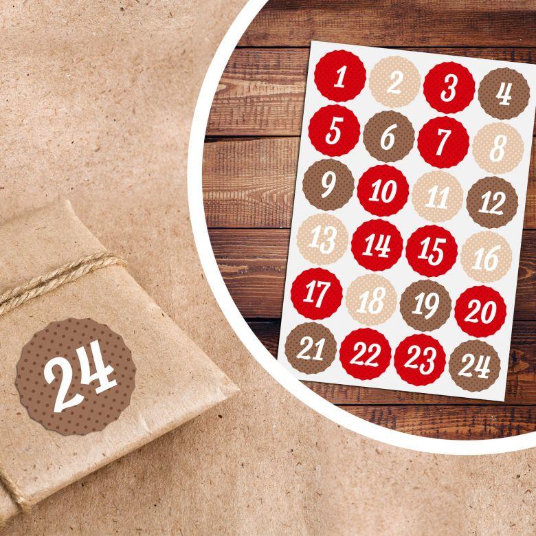Sticker Adventskalender Polka Dots