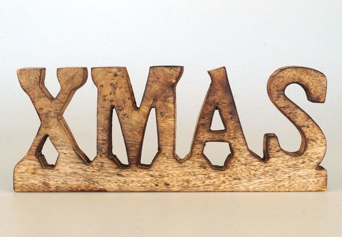 Holz-Schriftzug XMAS