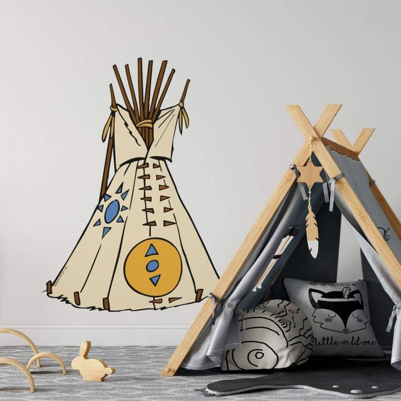 Wandtattoo Yakari Tipi Indianer Deko Fur Kinder Wall Art De