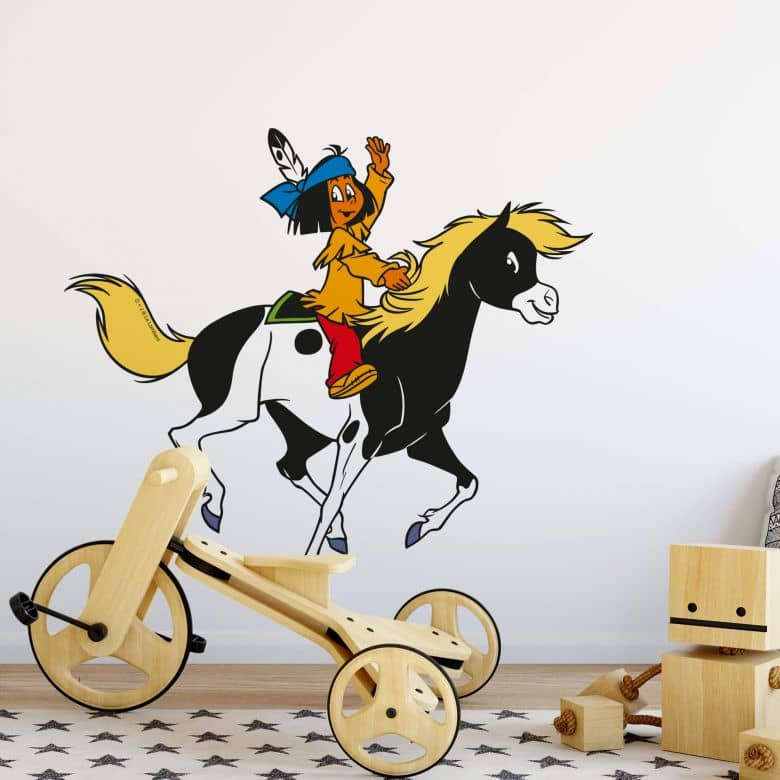 Sticker mural - Yakari et Petit Tonnerre