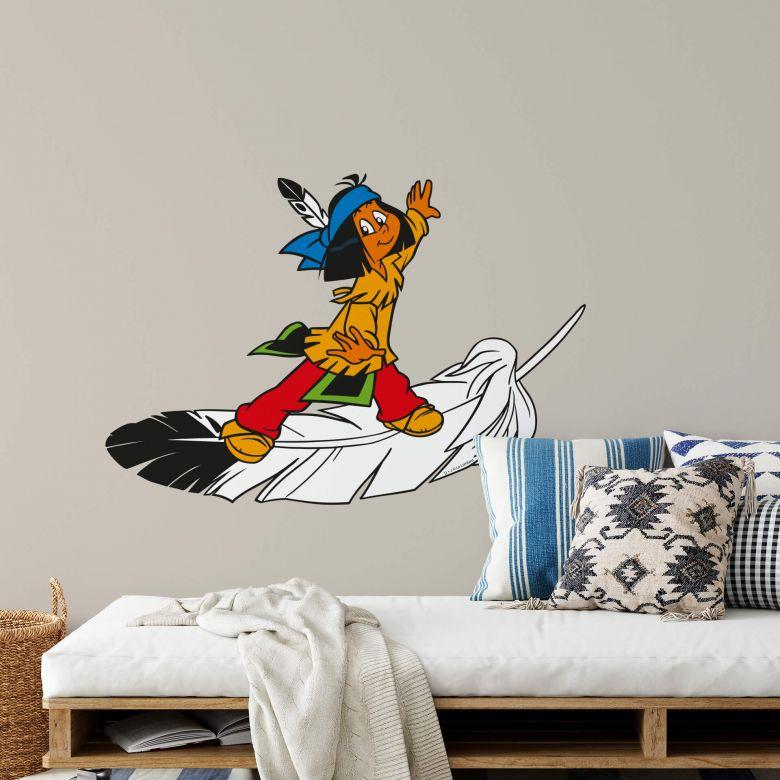 Sticker mural - Yakrai léger comme une plume