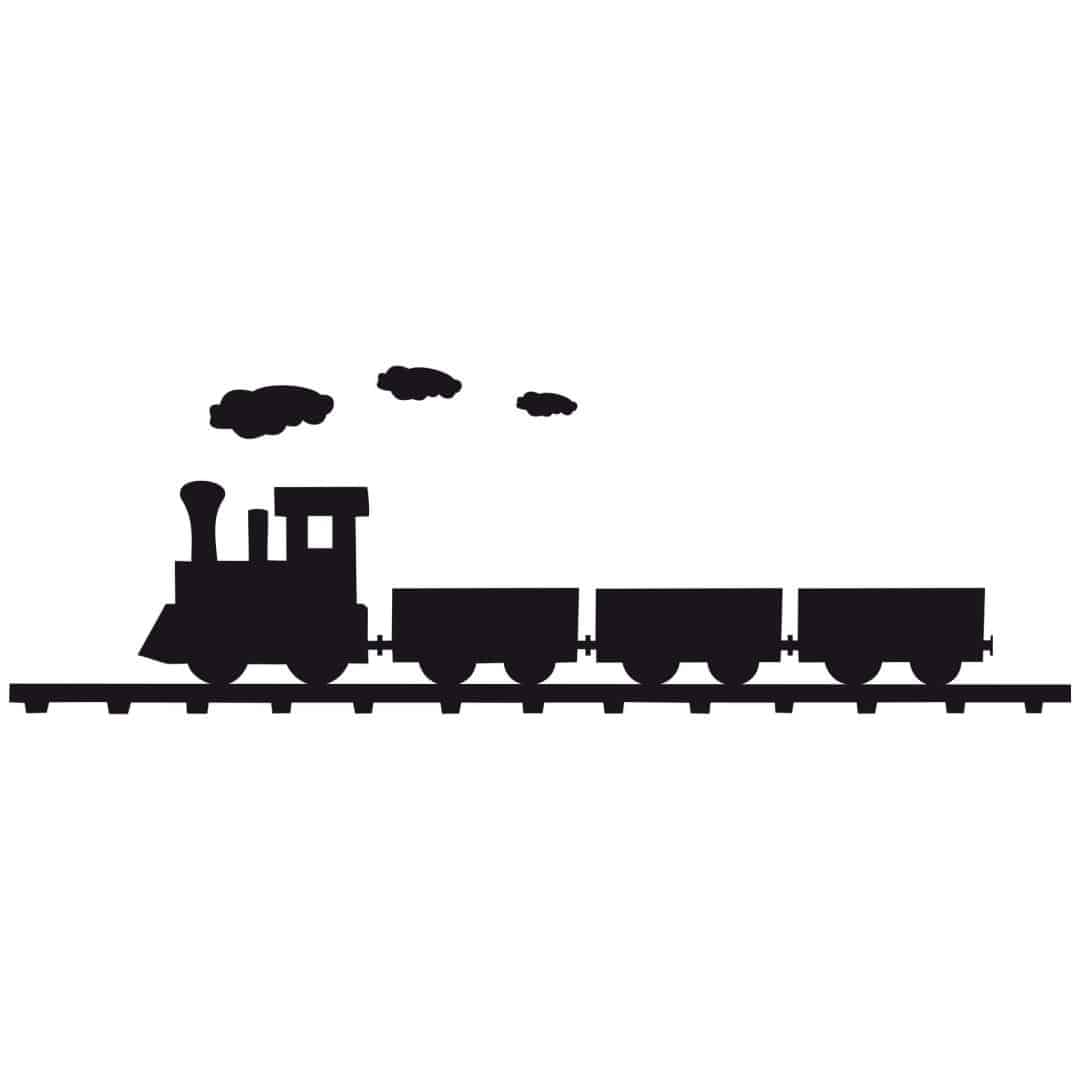Wandtattoo dampflok h bsche lokomotive f r kinder wall - Wandtattoo dampflok ...