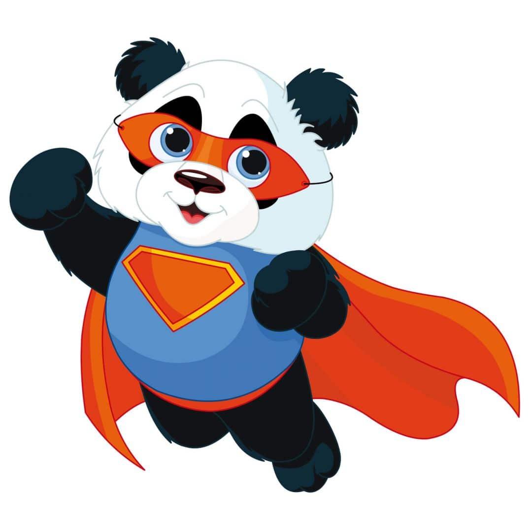 Super Panda Wall Sticker Wall Art Com