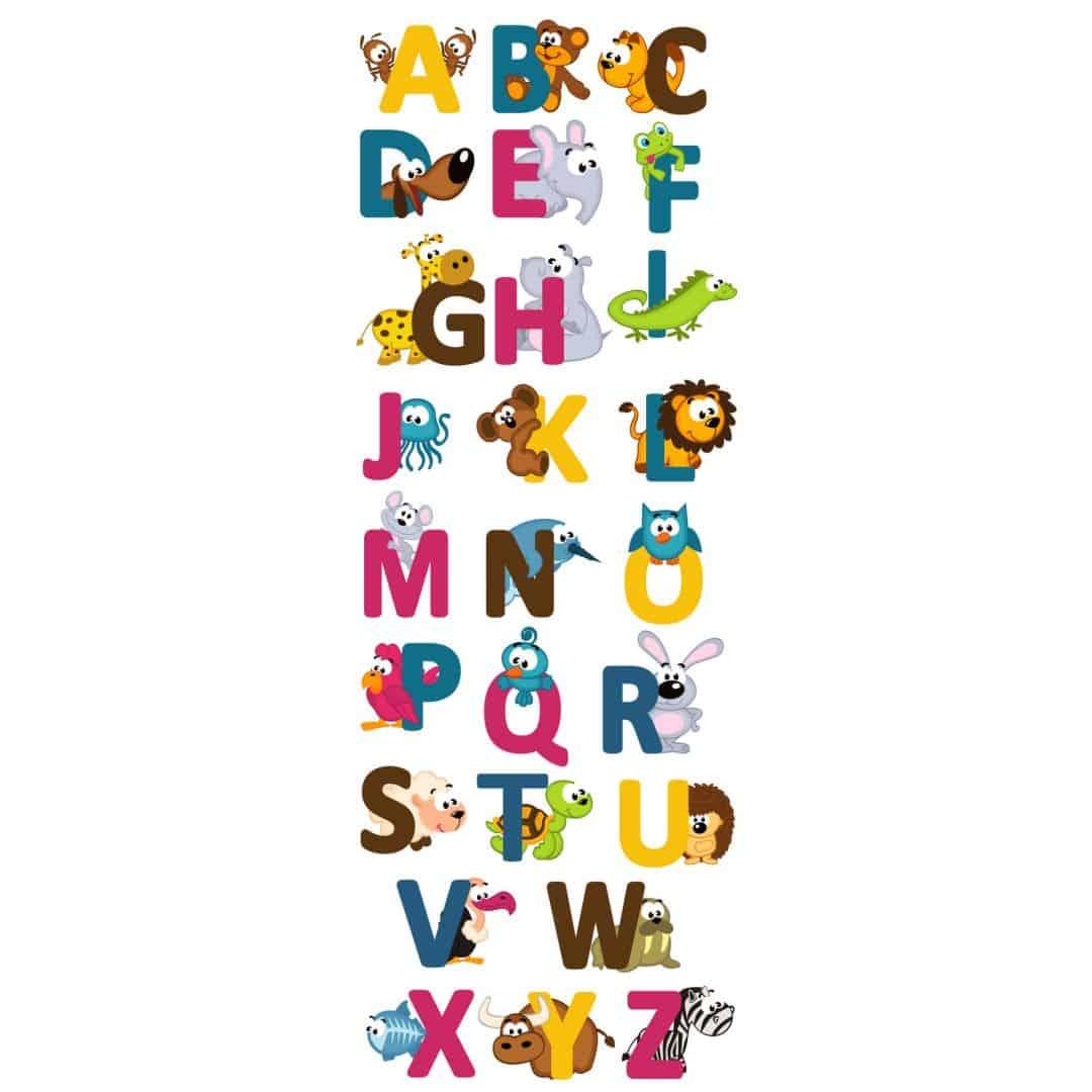 sticker mural pr nom alphabet anglais. Black Bedroom Furniture Sets. Home Design Ideas
