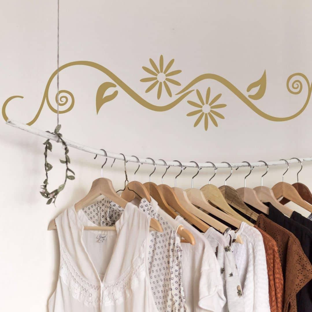 fiore wandtattoo von k l wall art wall. Black Bedroom Furniture Sets. Home Design Ideas