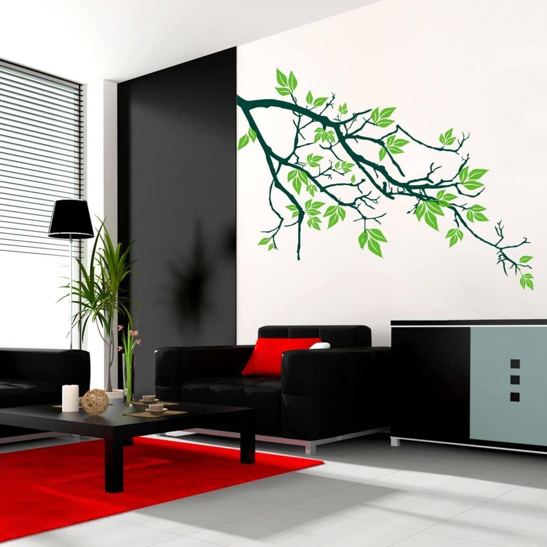 wandtattoo ast 2 in zwei verschiedenen farben von k l wall art wall. Black Bedroom Furniture Sets. Home Design Ideas