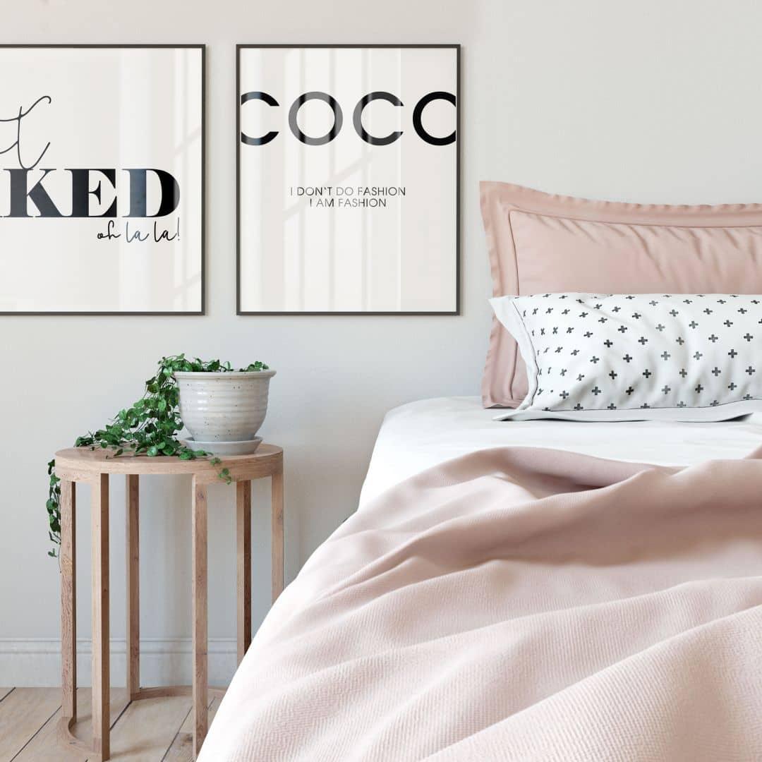 Poster get naked spruch typografie wall - Tesa fensterfolie ...