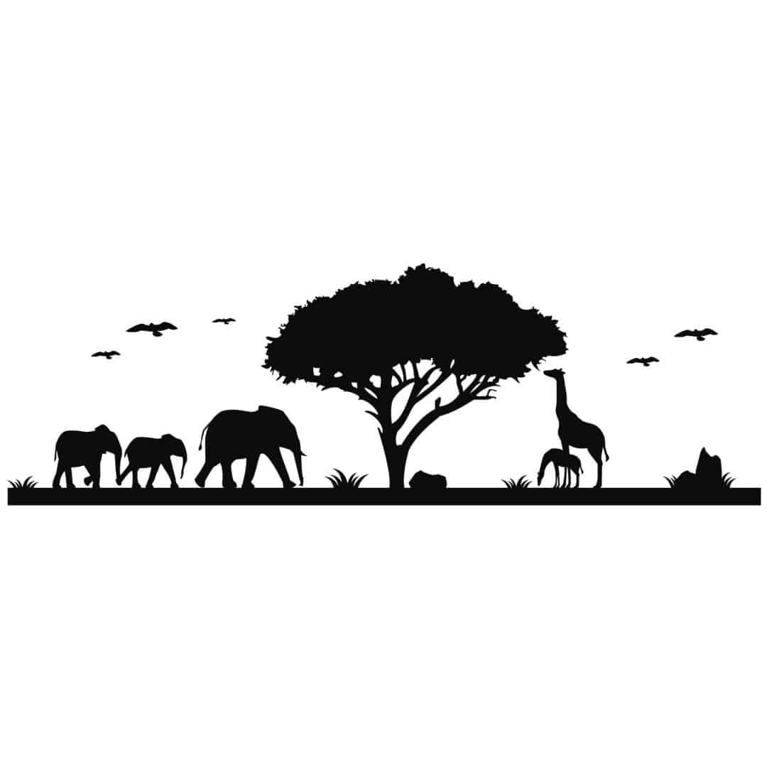 Wandtattoo afrika 3 sch ne afrika deko wall for Wandtattoo afrika