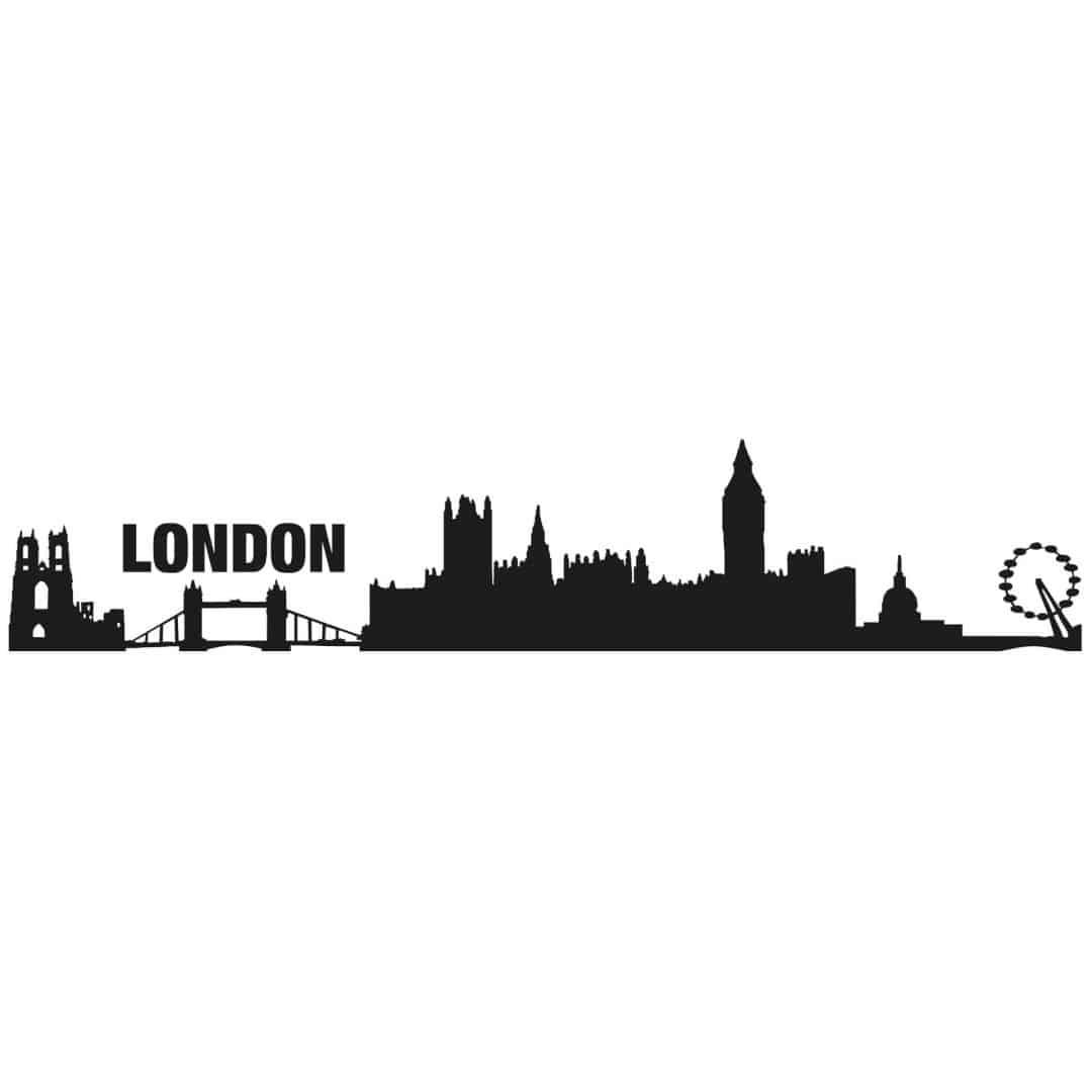 Wandtattoo london skyline die hauptstadt des uk mit seiner eindrucksvollen architektur wall - Skyline london wandtattoo ...