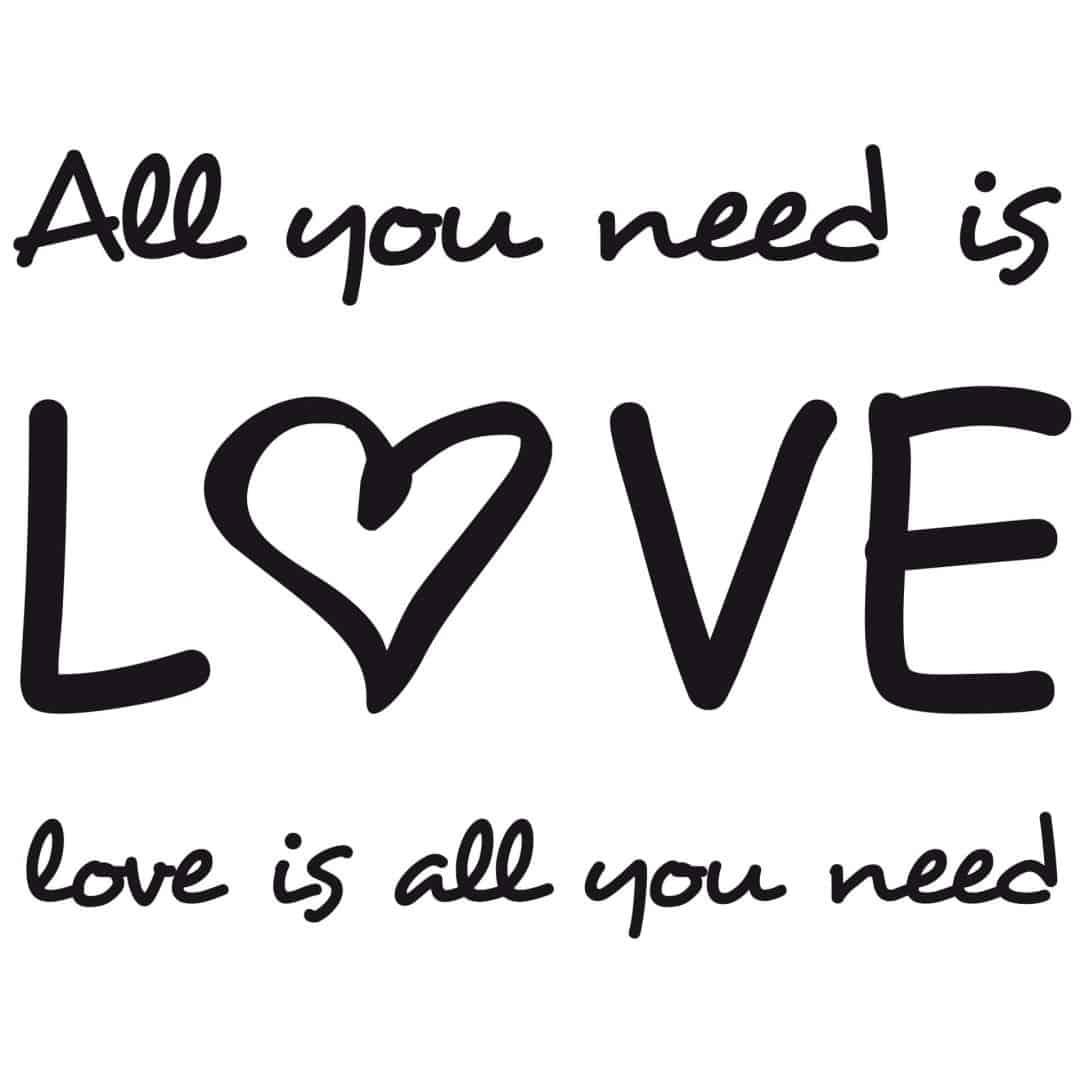 Adesivo Janela Privacidade ~ Adesivo murale All you need is love