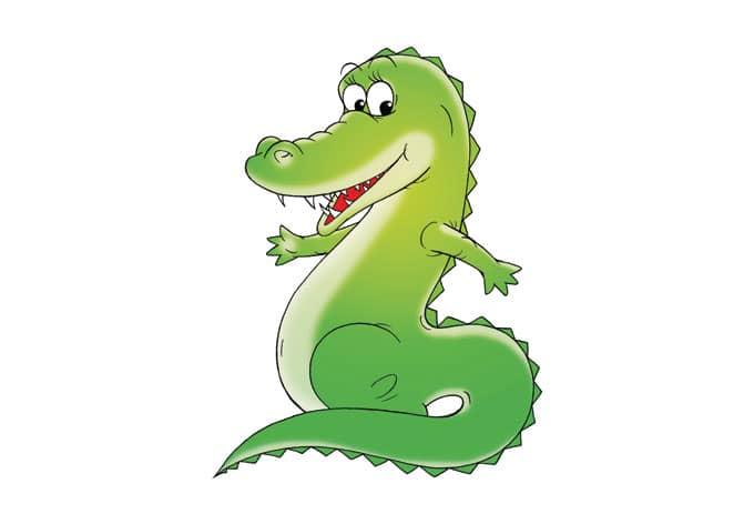 Wandtattoo krokodil ein niedliches kroko wandtattoo - Krokodil wandtattoo ...