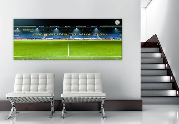 acrylglasbild eintracht braunschweig trib ne panorama deko f r fu ball fans wall. Black Bedroom Furniture Sets. Home Design Ideas