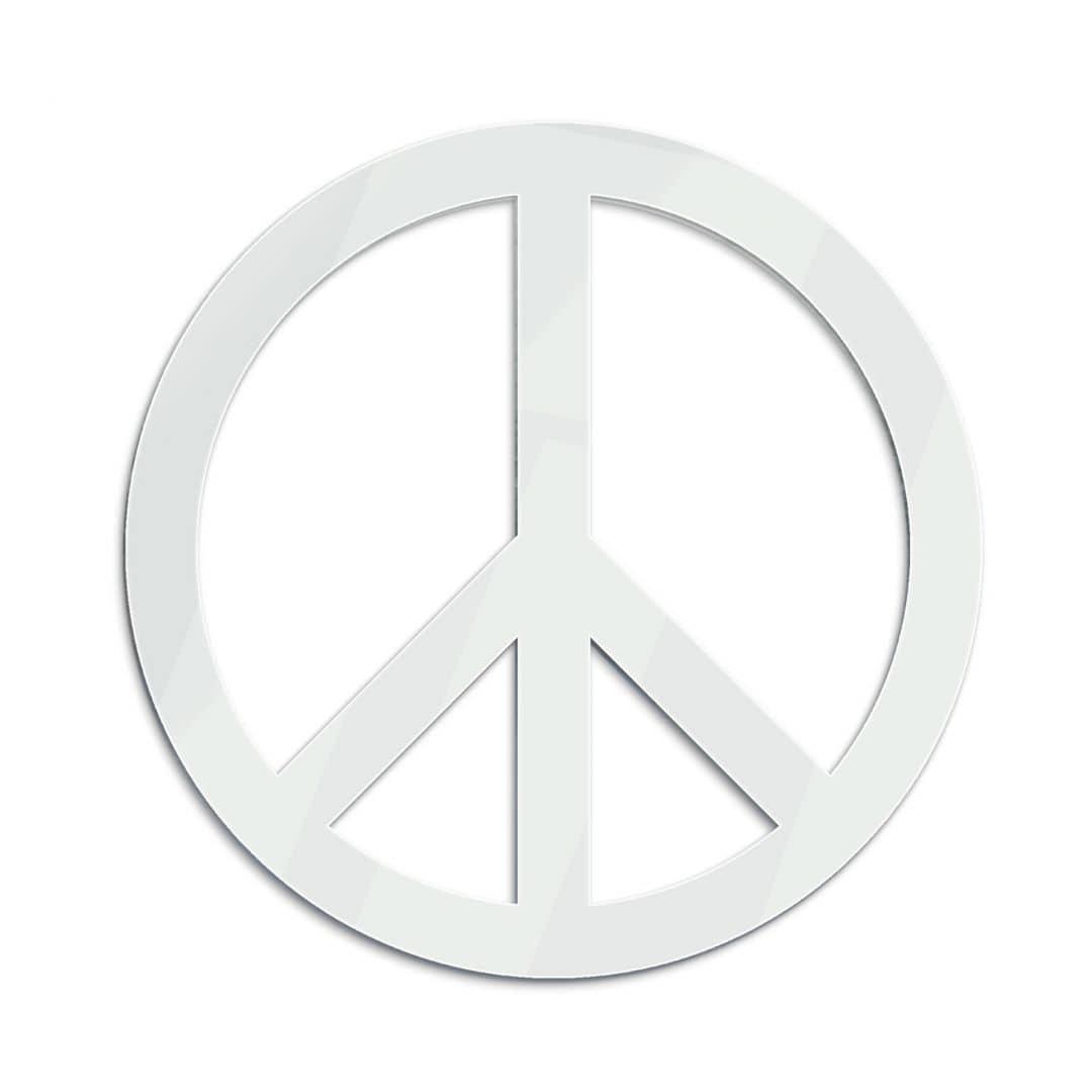Specchio con il simbolo della pace - Specchio intero ...