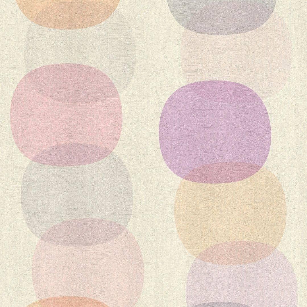 a s cr ation tapete pop colors grau orange rosa 355904 wall. Black Bedroom Furniture Sets. Home Design Ideas