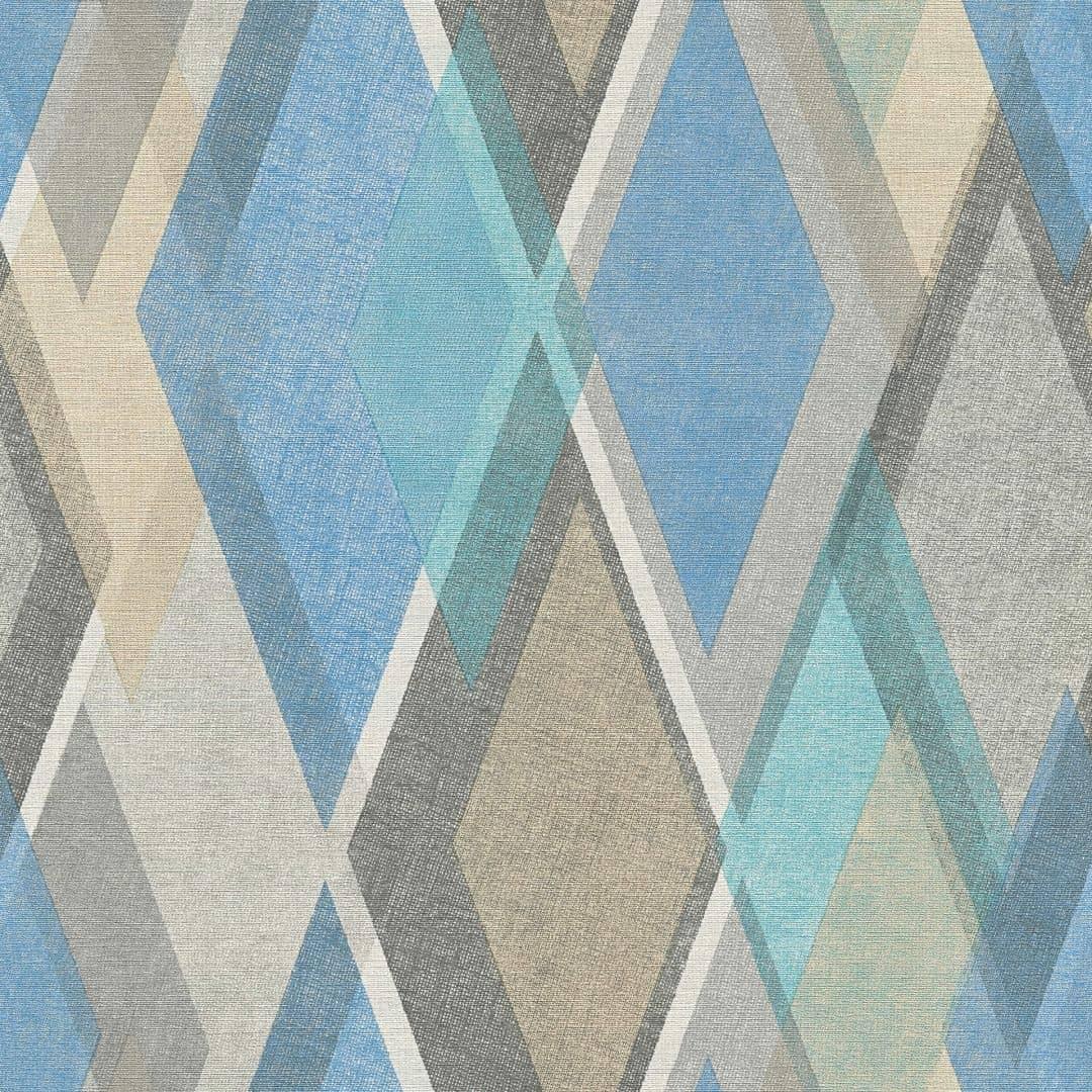 a s cr ation tapete pop colors beige blau grau 355912 wall. Black Bedroom Furniture Sets. Home Design Ideas