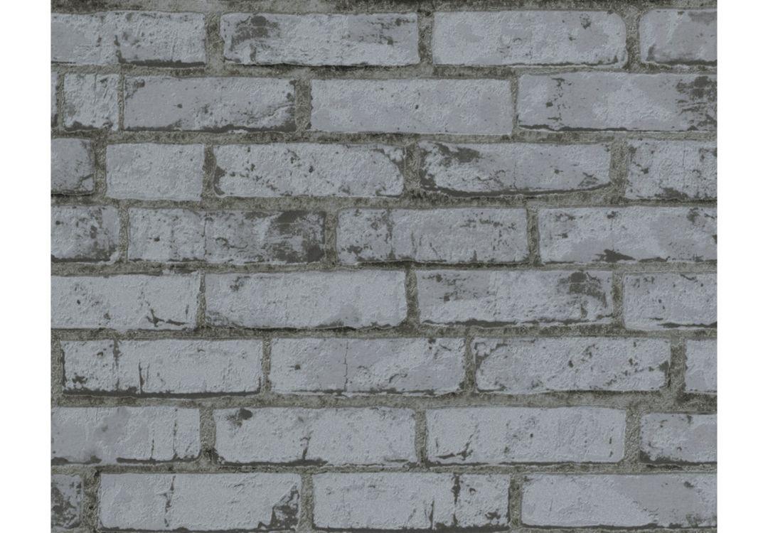 a s cr ation steinoptik tapete new england grau wall. Black Bedroom Furniture Sets. Home Design Ideas