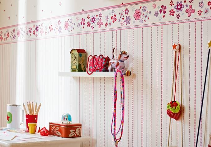 esprit kids bord re girls dreams rot lila wei 941273. Black Bedroom Furniture Sets. Home Design Ideas