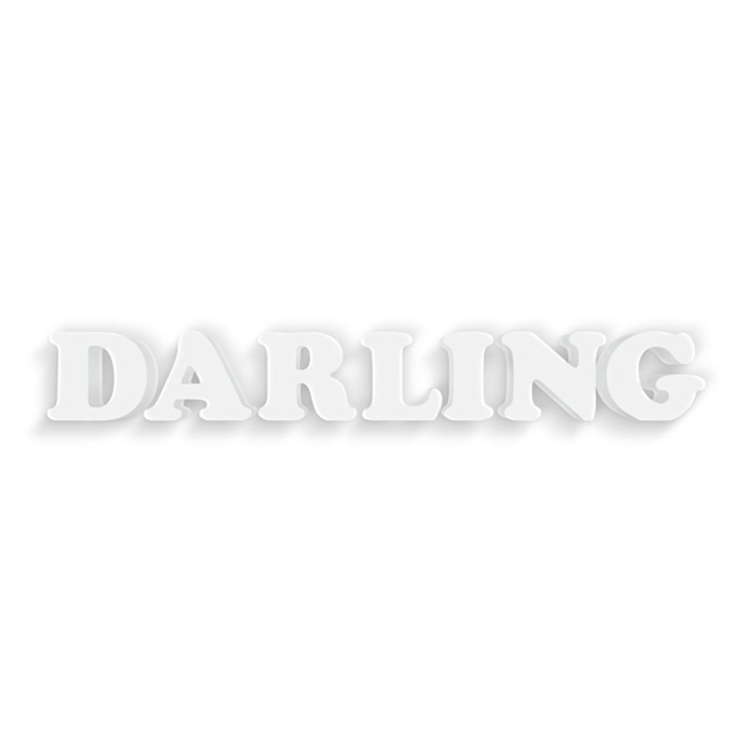 Lettere decorative 3d darling - Scritte decorative ...