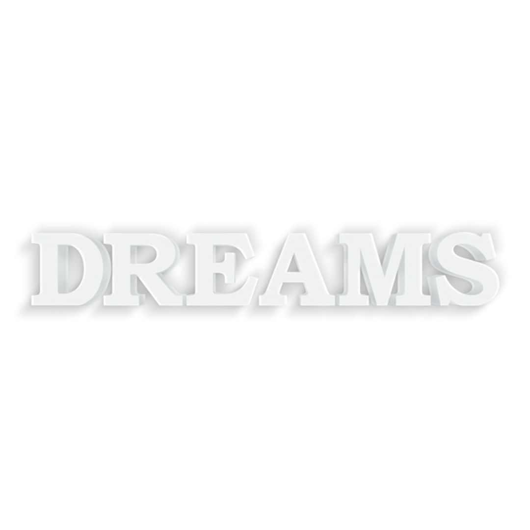Lettere decorative 3d dreams 1 - Scritte decorative ...