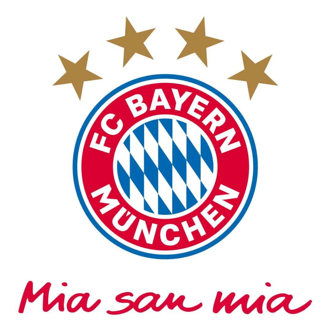bayern m nchen logo mia san mia wandtattoos vom fcb wall. Black Bedroom Furniture Sets. Home Design Ideas
