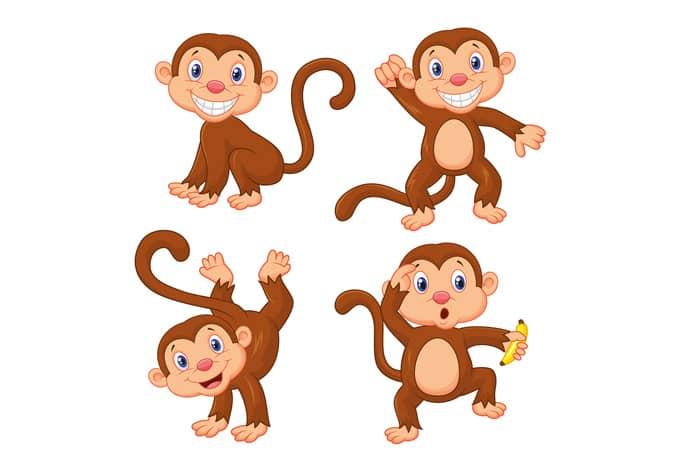 Adesivi per finestre scimmiette per la cameretta - Adesivi per finestre ...