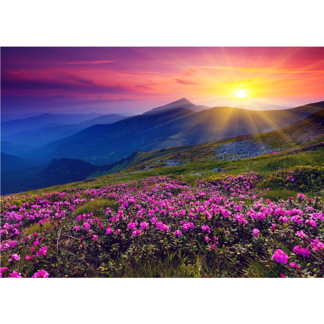 Papier peint photo coucher de soleil en montagne - Photo coucher de soleil montagne ...