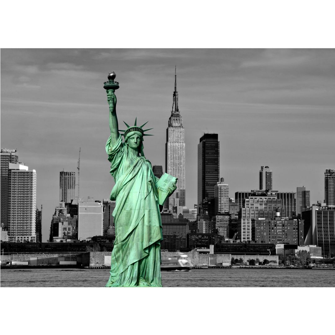 papier peint photo statue of liberty. Black Bedroom Furniture Sets. Home Design Ideas