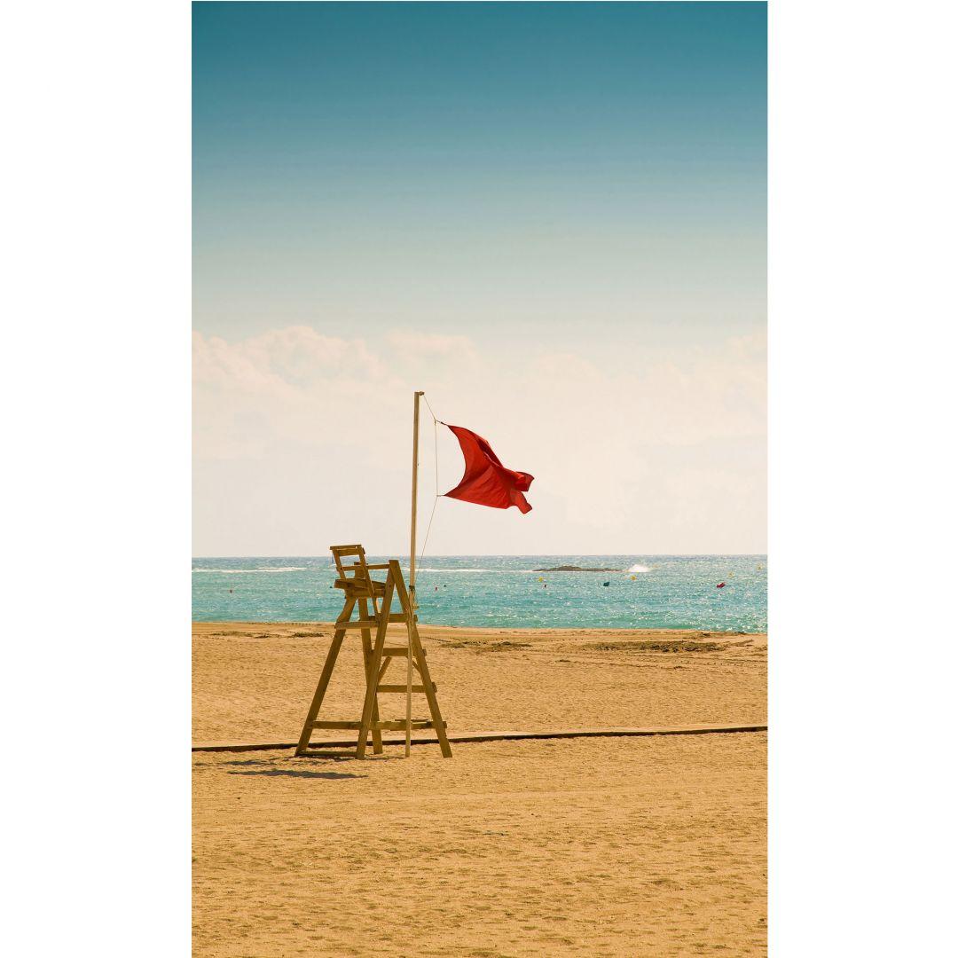 fototapete rote fahne urlaub f r die wand von k l wall art wall. Black Bedroom Furniture Sets. Home Design Ideas