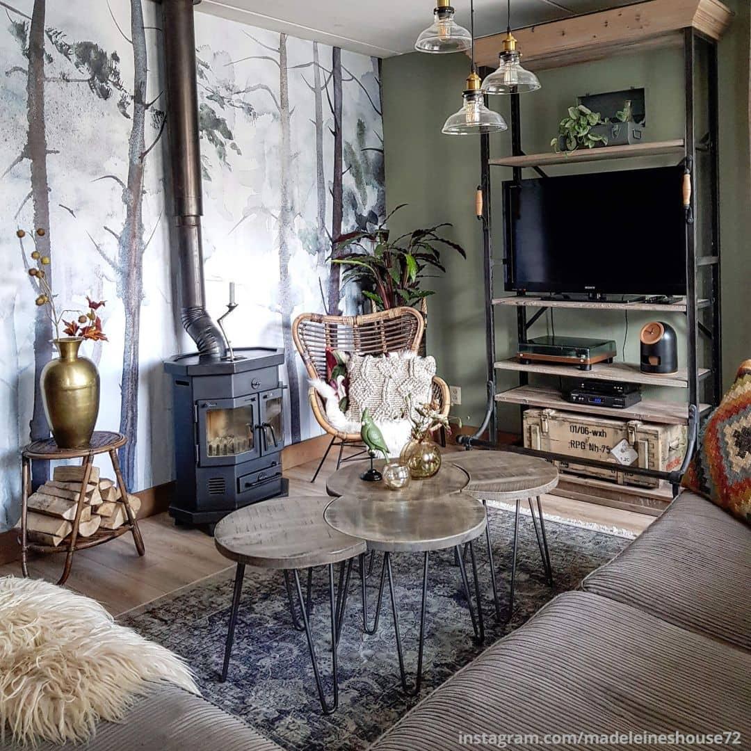 papier peint photo for t aquarelle wall. Black Bedroom Furniture Sets. Home Design Ideas