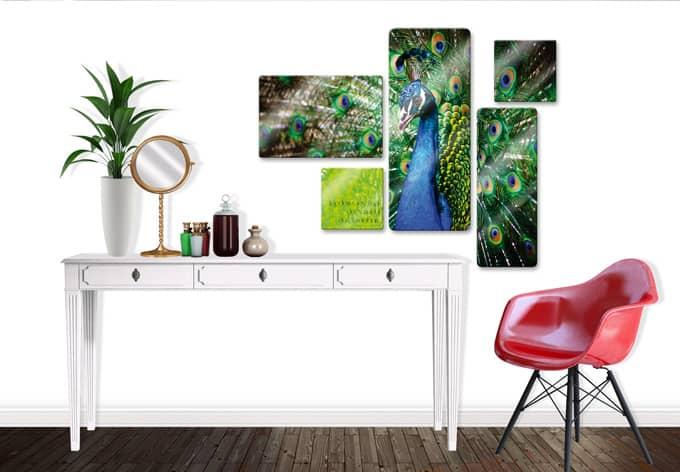 5 teiliges glasbild set in jedem gesch pf der natur wall. Black Bedroom Furniture Sets. Home Design Ideas
