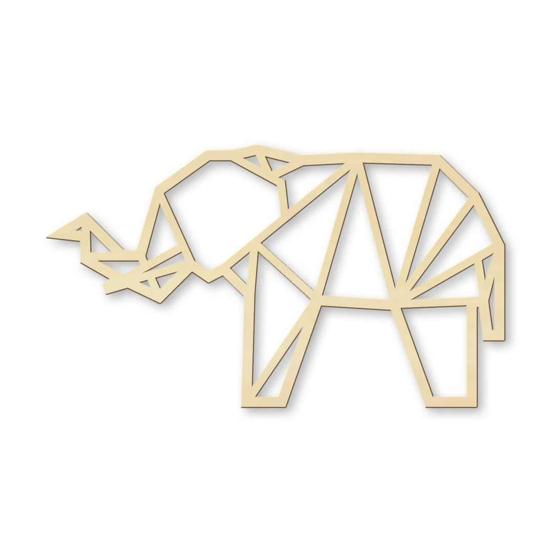 Wooden Elephant - Origami - wall-art.com - photo#45