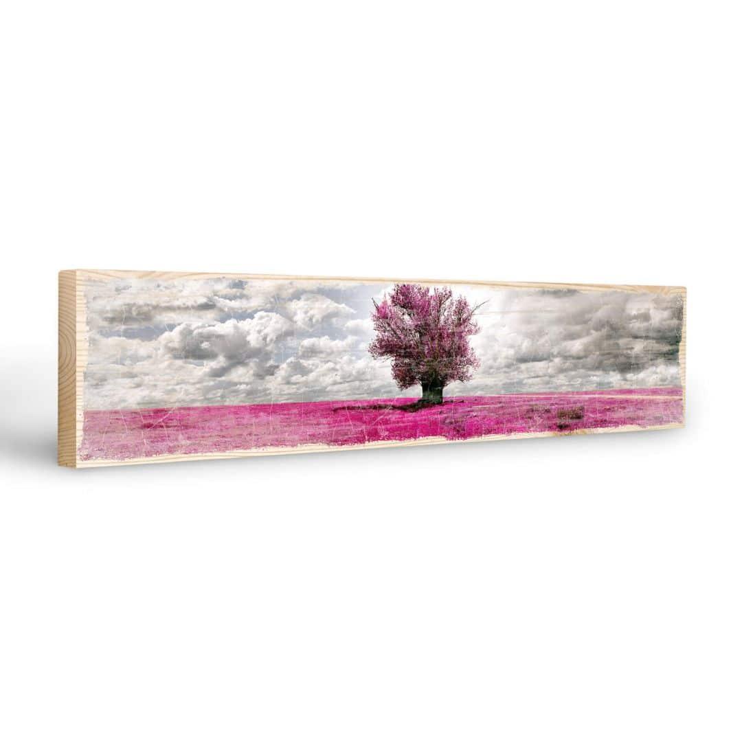 Targa in legno l 39 albero solitario wall for Targhe decorative in legno