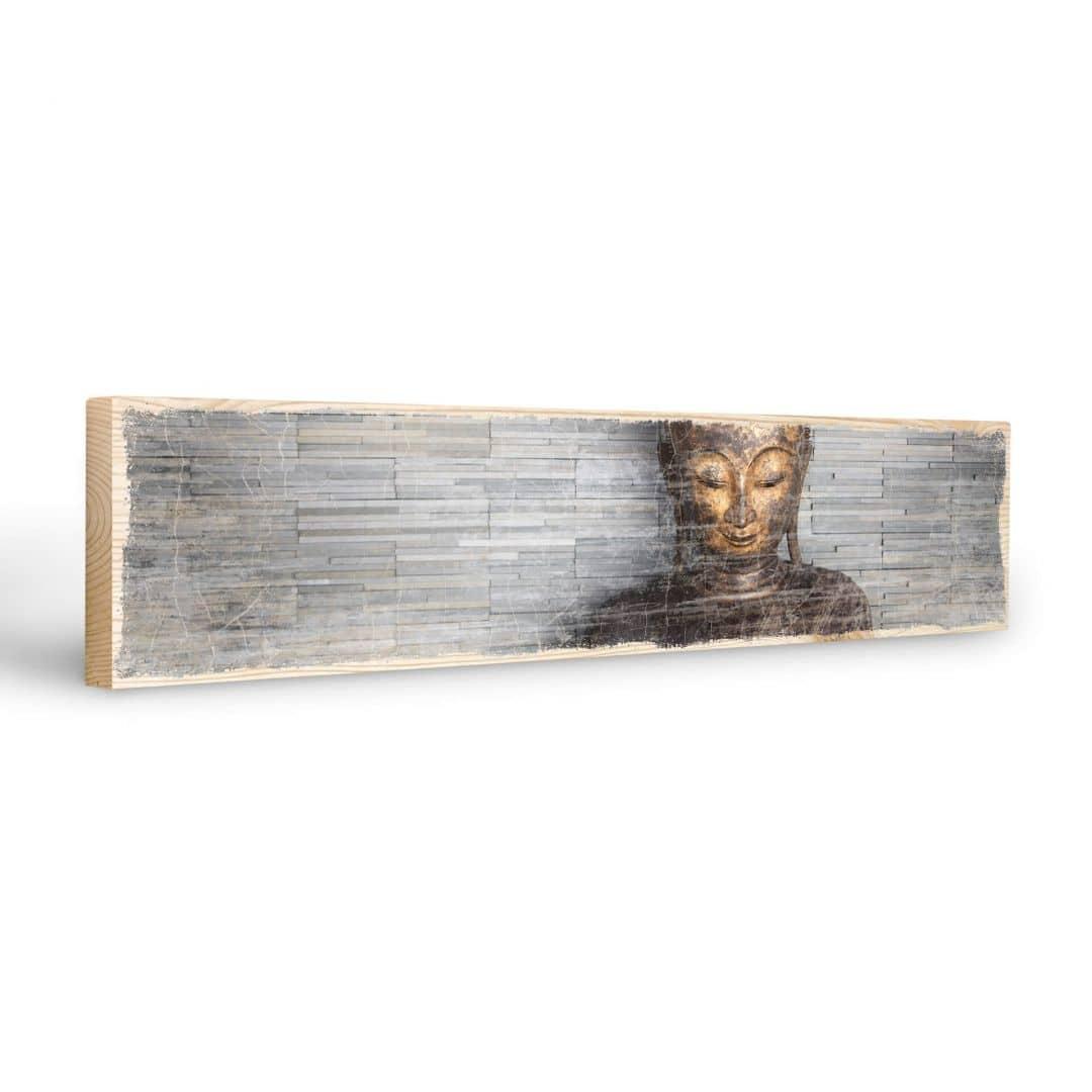 Targa in legno buddha tailandese wall for Targhe decorative in legno